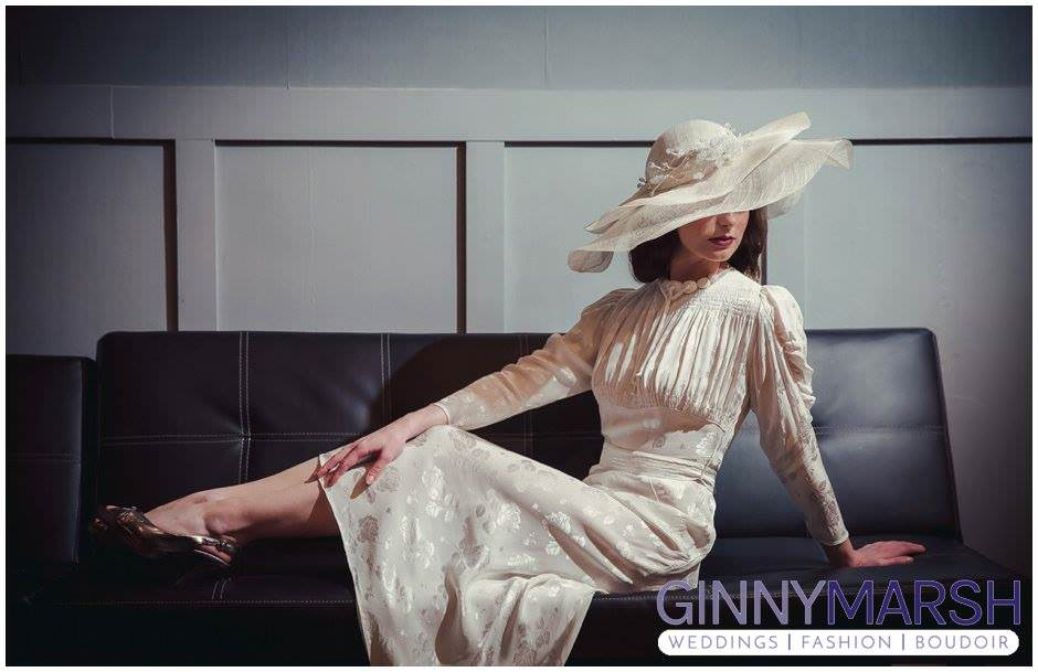 1930s Vintage Wedding Dress Photo Shoot Preview