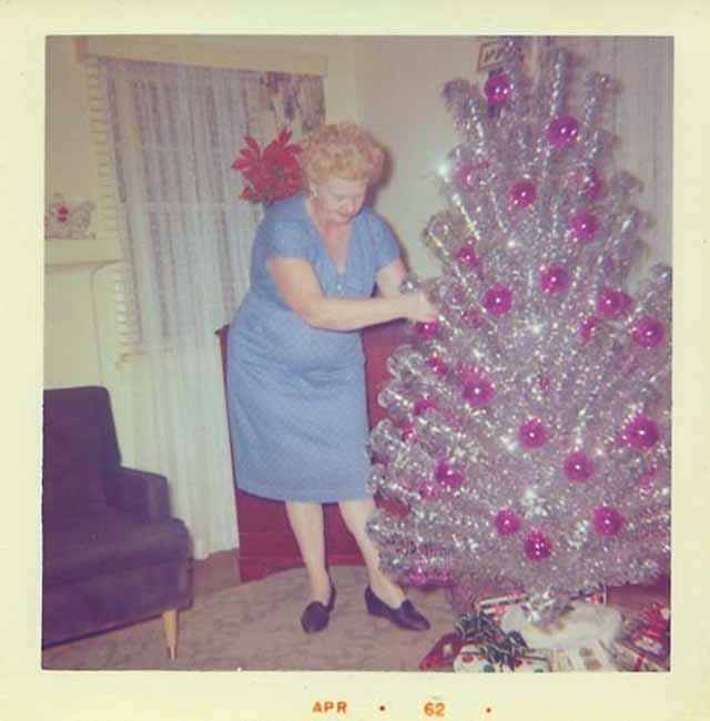 Vintage Christmas Trees And Women Vintage And Ethical Wedding And