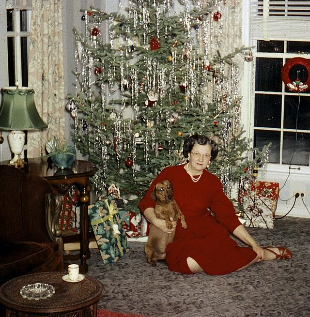 Vintage Christmas Trees And Women