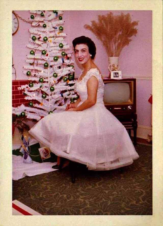 Vintage Christmas Trees And Women Vintage And Ethical